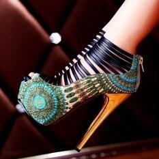 ราคา 16Cm High Heels Sandals Women Shoes S*Xy Pumps Platform Gladiator Sandals Party Sandalias Mujer Intl ใหม่