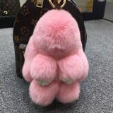 ขาย ซูเปอร์เม้งตุ๊กตากระต่ายขนกระต่ายขนาดเล็กถุงรถพวงกุญแจ สีชมพู ธรรมดารุ่น 18 Cm ราคาถูกที่สุด
