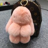 ราคา ซูเปอร์เม้งตุ๊กตากระต่ายขนกระต่ายขนาดเล็กถุงรถพวงกุญแจ หนังสีชมพู ธรรมดารุ่น 18 Cm