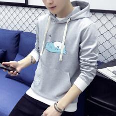 ขาย เสื้อกันหนาวเกาหลีเสื้อยืดชายวัยรุ่นเสื้อสวมหัว 1804 เฮเทอร์เกรย์ Unbranded Generic ใน ฮ่องกง