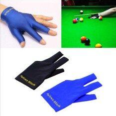 1 ชิ้น Cue Pool Shooters เปิด 3 Fingers ถุงมือถุงมือเล่นพูล/บิลเลียดถุงมือเล่นพูล/บิลเลียดคุณภาพสูงอุปกรณ์บิลเลียด (ซ้าย) - Intl.