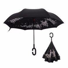 โปรโมชั่น ร่มกลับด้าน 2 ชั้น มือจับตัว C กันแดดUv Reverse Umbrella Cherry Blossms กรุงเทพมหานคร