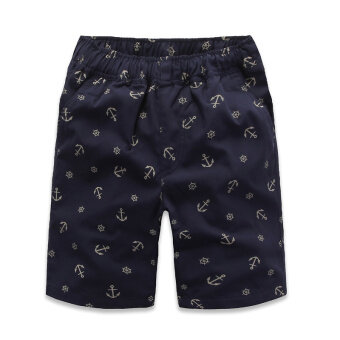 Review Haoxuesheng กางเกงเด็กชายห้าส่วน ลายดอก (สมอสีฟ้า (ผ้าฝ้าย 20%))