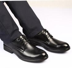 ขาย รองเท้าหนังแท้สีดำ หัวแหลม เพิ่มความสูงไว้ด้านใน สไตล์นักธุรกิจหนุ่มอังกฤษ 2012 สีดำ 2012 สีดำ เป็นต้นฉบับ