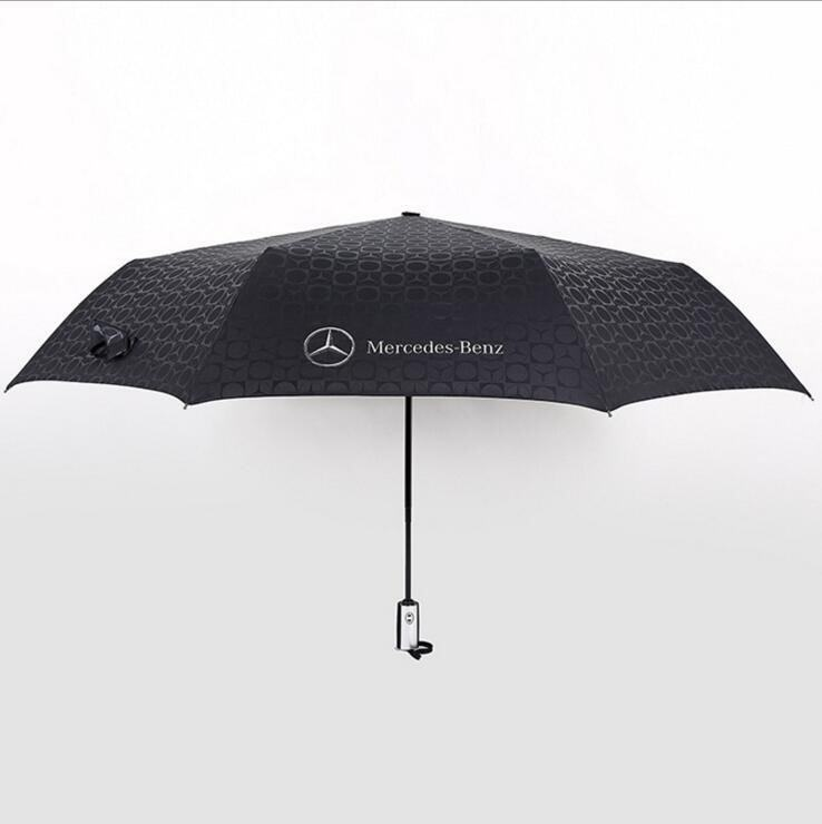 Benz big umbrellas fashion oversize parasols men automatic business paraguas windproof male female - intl