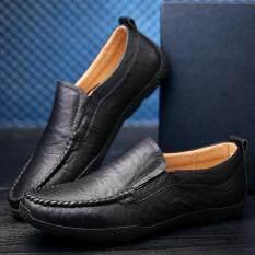 โปรโมชั่น รองเท้าแฟชั่นผู้ชายใหม่รองเท้าแตะดั๊กรองเท้าสำหรับขับขี่รองเท้าผู้ชายรองเท้าหนังผู้ชายรองเท้าแฟชั่น สีดำ ถูก