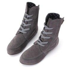 ทบทวน 2016 ใหม่สตรีข้อเท้าบู๊ทส์ลูกไม้ขึ้นแบนรองเท้ารองเท้าผ้าใบฤดูหนาว