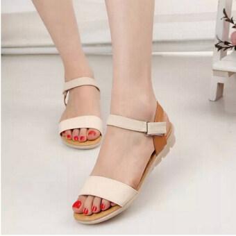 รองเท้าแตะรัดข้อเท้าธรรมดาสตรี 2559 ลงชายหาดรองเท้าส้นเท้าลิ่ม\nVelco ฤดู