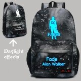 ขาย ซื้อ 2017 Alan Walker Luminous Backpack Faded Hip Pop Character Shoulder Bag Grey Intl