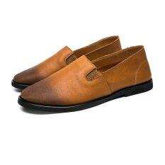 ราคา 2017 Brand Mens Shoes Genuine Leather Men Driving Shoes Flats Good Quality Men Loafers Comfortable Intl ใหม่