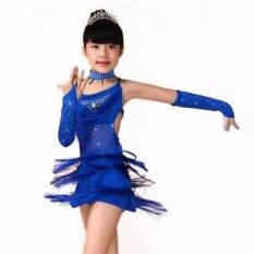 ซื้อ 2017 เด็ก Latin Salsa ชุดสำหรับสาวเต้นรำการแข่งขันเต้นรำชุดเด็กละติน Waltz เต้นจังหวะแทงโก้ Cha Cha เครื่องแต่งกายเต้นรำ นานาชาติ Bellyqueen