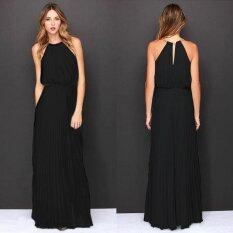 ซื้อ 2017 European And American Foreign Trade Women S New Sleeveless Reins Pleated Fashion S*xy Dress Intl ออนไลน์