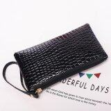 2017 Fashion Clutch Bags Women Pu Leather Purse Satchel Small Bag Ladies Long Wallet Zipper Bag Gift Black Intl เป็นต้นฉบับ