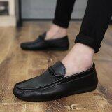 ซื้อ 2017 ธุรกิจแฟชั่นผู้ชายรองเท้าฤดูร้อนรองเท้าใส่ลำลอง สีดำ สนามบินนานาชาติ ออนไลน์ จีน