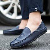 2017 Fashion Men S Casual Shoes Business Shoes Leather Shoes Blue Intl ใหม่ล่าสุด