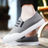 ส่วนลด สินค้า 2017 Fashion Men S Casual Shoes Summer Draving Shoes Loafer For Men Grey Intl