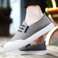 ซื้อ 2017 Fashion Men S Casual Shoes Summer Draving Shoes Loafer For Men Grey Intl Unbranded Generic ถูก