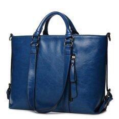 ราคา 2017 Fashion Pu Tote Women Leather Handbags Messenger Shoulder Bags (Blue) Intl Unbranded Generic เป็นต้นฉบับ