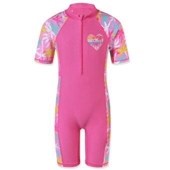 2017 สาวชุดว่ายน้ำป้องกันรังสียูวีชุดว่ายน้ำว่ายน้ำชุดว่ายน้ำ (UPF50 +) ชุดว่ายน้ำชายหาดท่องเสื้อผ้าสำหรับ 2-10Y-นานาชาติ-นานาชาติ