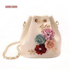 ขาย ซื้อ 2017 กระเป๋าใส่ดอกไม้ทำด้วยมือกระเป๋ามินิไหล่กระเป๋าโซ่สายรัดขนาดเล็กข้ามร่างกายถุงมุก นานาชาติ จีน