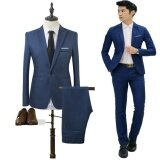 ซื้อ 2017 High Quality Business And Leisure Suit Two Piece Suit The Groom S Best Man Wedding Blazer Suit Intl Unbranded Generic ออนไลน์