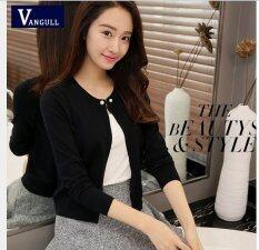 ราคา 2017 High Quality Spring Autumn Sweater Women Cardigan Sweater Solid Color One Button Women S Cashmere Sweater M Black Intl ใน จีน