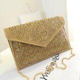 ส่วนลด 2017 Hollow Envelope Bag Ladies Shoulder Diagonal Package Bag Handbag Bag Gold Intl จีน
