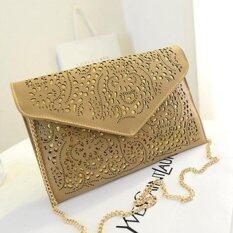 ซื้อ 2017 Hollow Envelope Bag Ladies Shoulder Diagonal Package Bag Handbag Bag Gold Intl ออนไลน์ จีน