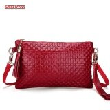 ส่วนลด 2017 Hot Women Genuine Cow Leather Bag Fashion Tassel Knitting Pattern Ladies Clutch Chain Shoulder Crossbody Messenger Bags Red Intl จีน