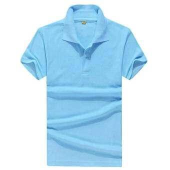 2017 ชายเสื้อโปโลคลาสสิกโปโลแขนสั้นเสื้อลำลองเสื้อ (ทะเลสาบสีฟ้า) - นานาชาติเสื้อผ้าแฟชั่นเสื้อเสื้อโปโล-