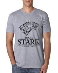 โปรโมชั่น 2017 Men Game Of Thrones T Shirt House Stark Winter Is Coming Male Harajuku Top Tshrt Grey Intl Diy ใหม่ล่าสุด