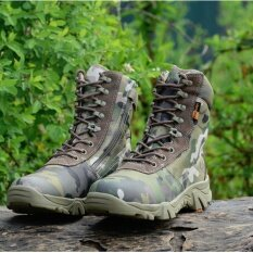 ขาย 2017 Men Summer Light Combat Boots With Grey Camouflage Men Boots Asker Bot Waterproof Breathable Bots Military Tactical Boots Intl ใหม่
