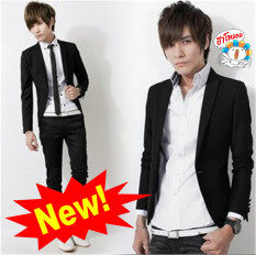 ขาย ซื้อ Hot Sale New Arrival Korean Style Elegant Slim Fit Men Jacket Casual Business Dress Blazers Black