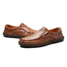 ขาย 2017 New Arrival Genuine Leather Luxury Brand Men Casual Shoes High Quality Driving Soft Formal Intl Unbranded Generic