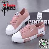 ราคา 2017 New Fashion Diva รองเท้าผ้าใบแฟชั่น สไตล์เกาหลี ลายแมว Diva กรุงเทพมหานคร