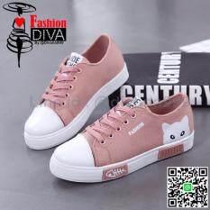 ขาย 2017 New Fashion Diva รองเท้าผ้าใบแฟชั่น สไตล์เกาหลี ลายแมว ออนไลน์ กรุงเทพมหานคร