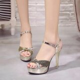 2017 New High Heeled Korean Fashion Sandals Youth Trend Style Banquet Shoes Women S Fashion Intl จีน