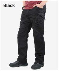 ราคา 2017 New Men Casual Cotton Pockets Pants Ix9 Militar Tactical Cargo Pants Combat Swat Army Train Military Pants Xl Black ใหม่