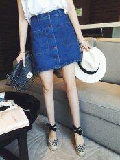2017 New Spring Waisted Jean Skirt Female Korean Summer Bag Hip A Line A Slim Step Short Skirt Intl Unbranded Generic ถูก ใน จีน