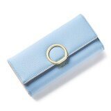 ขาย 2017 New Style Lady Women Clutch Long Purse Leather Wallet Card Holder Bags Blue Intl Unbranded Generic เป็นต้นฉบับ