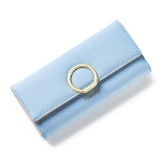 ส่วนลด 2017 New Style Lady Women Clutch Long Purse Leather Wallet Card Holder Bags Blue Intl
