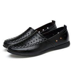 ซื้อ 2017 ฤดูร้อนใหม่ผู้ชายรองเท้าไม่มีส้นหนังแท้ชายรองเท้าไซส์ใหญ่ 45 46 47 นานาชาติ ถูก จีน