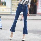 ซื้อ 2017 Newest Summer Spring Vintage Coolest High Waist Denim Pants Women Causal Bell Bottom Jeans Intl Unbranded Generic เป็นต้นฉบับ