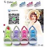ซื้อ แบบใหม่ 2017 รองเท้าผ้าใบผู้หญิงแฟชั่นเกาหลี Summer Style นุ่มเบาสบาย ใหม่
