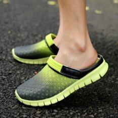 ราคา 2017 รองเท้าเทนนิสฤดูร้อนรองเท้าแตะชายรองเท้าแตะแนวโน้มของรองเท้าลำลองของผู้ชายรองเท้าแตะ สีเทาสีเขียว นานาชาติ Unbranded Generic