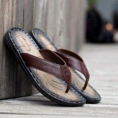 ราคา พลิกรองเท้าแตะรองเท้าหนังรองเท้ารองเท้าชายของผู้ชาย ใน จีน