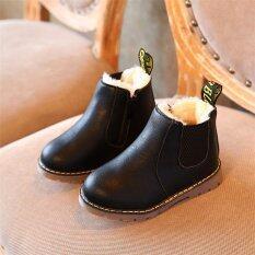 ราคา 2017 เด็กอ่อนสำหรับเด็กฤดูหนาวรองเท้าเด็กวัยหัดเดินเด็กหญิง Faux ขนรองเท้าสีดำ นานาชาติ ออนไลน์ จีน