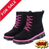 2017 Women S Brand New Fashion And Simple Snow Boots Warm Boots Black Intl ใน จีน