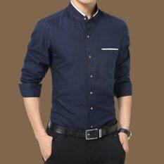 ราคา เสื้อเชิ้ตลำลองชาย คอกลม ทรงสลิม ไซส์ใหญ่ สไตล์เกาหลี 2210 สีน้ำเงินเข้ม 2210 สีน้ำเงินเข้ม Other ใหม่