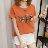 ซื้อ Xian Yuansu เสื้อยืดแขนสั้น คอกลม แบบหลวม สไตล์ผู้หญิงเกาหลี 271 สีส้ม 271 สีส้ม ออนไลน์ ถูก